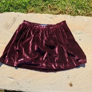 Ralph Lauren Girls Sz 8 silk kissed velvet skirt